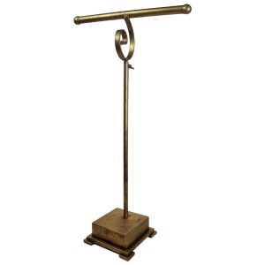 """Gold jewelry display stand. Height is adjustable. Perfect for necklaces and bracelets. 14""""x 6"""" x 36""""."""