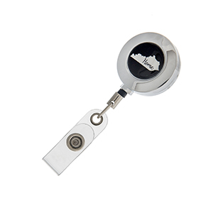 """Kentucky """"Home"""" ID badge holder with retractable reel."""
