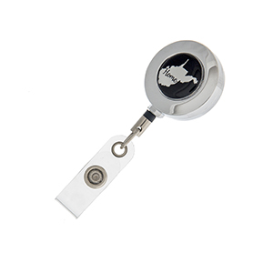 "West Virginia ""Home"" ID badge holder with retractable reel."