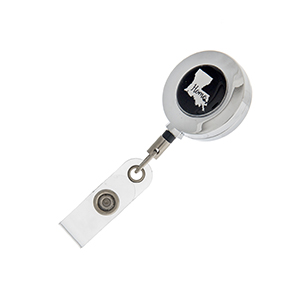 "Louisiana ""Home"" ID badge holder with retractable reel."