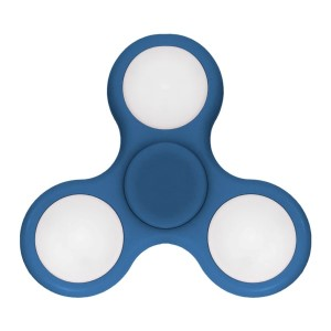 Aqua, light up fidget spinner. Allows you to spin stress away, and can even help some people focus!