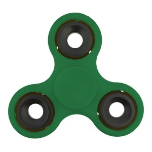 Green fidget spinner. Allows you to spin stress away, and can even help some people focus! Ceramic ball bearings allow for long spin times.