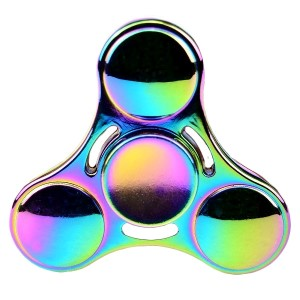 3-Bar heavy duty zinc alloy fidget spinner. Allows you to spin stress away, and can even help some people focus! Ceramic ball bearings allow for long spin times. Sold in padded tin canister.