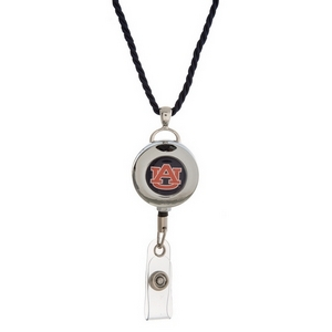 """Officially licensed Auburn University lanyard and ID holder with a break-away cord. Approximately 32"""" in length."""