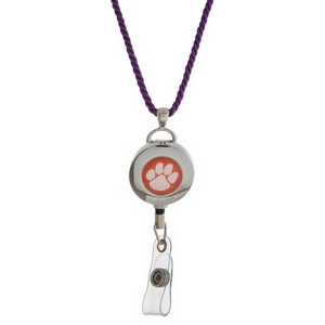 """Officially licensed Clemson University lanyard and ID holder with a break-away cord. Approximately 32"""" in length."""
