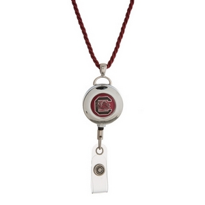 """Officially licensed University of South Carolina lanyard and ID holder with a break-away cord. Approximately 32"""" in length."""