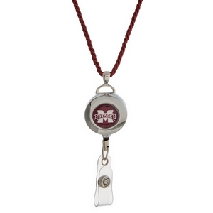"""Officially licensed Mississippi State University lanyard and ID holder with a break-away cord. Approximately 32"""" in length."""