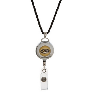 """Officially licensed University of Missouri lanyard and ID holder with a break-away cord. Approximately 32"""" in length."""