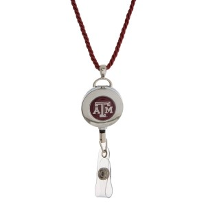 """Officially licensed Texas A&M lanyard and ID holder with a break-away cord. Approximately 32"""" in length."""