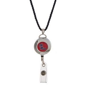 """Officially licensed Ole Miss lanyard and ID holder with a break-away cord. Approximately 32"""" in length."""