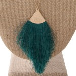 Wholesale long satellite chain necklace tassel pendant Pendant overall