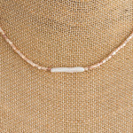 Wholesale faceted beaded necklace faux pearl accent