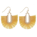 Wholesale gold fishhook earring fanned tassel