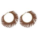 Wholesale feather inspired hoop earrings diameter