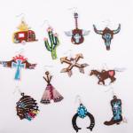 Wholesale metal cross earrings wings crown details