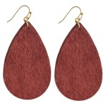 Wholesale faux fur teardrop earrings