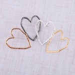 Wholesale oversized hammered heart stud earrings L