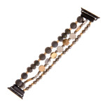 Wholesale interchangeable beaded stretch watch band smart watches acrylic facete