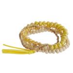 Wholesale beaded bracelet set four stretch bracelet wood faceted bead details fa