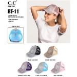 Wholesale c C Pony Cap BT C C leopard print glitter ponytail baseball cap mesh b