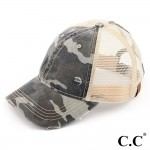 Wholesale c C BT Camo distressed vintage pony trucker cap mesh back Cotton Polye