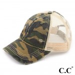Wholesale c C BT camouflage distressed vintage ponytail cap mesh back One fits m