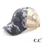 Wholesale c C BT Camo distressed vintage pony trucker cap mesh back Cotton Polye