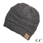 Wholesale original C C beanie dark melange gray acrylic diameter