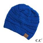 Wholesale original C C beanie royal blue acrylic diameter