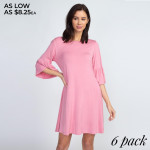 Wholesale adorable peplum sleeve dress will be wardrobe staple wear casual coff