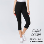 Wholesale mix Brand peach skin capris seamless chic must have every wardrobe li