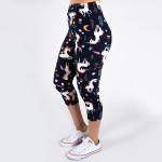 Wholesale peach skin unicorn print capri leggings Inseam One fits most Compositi