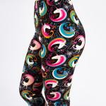 Wholesale peach skin rainbow unicorn print capri leggings Inseam One fits most C