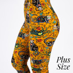 Wholesale pLUS peach skin sugar skull cat print capri leggings Inseam One fits m