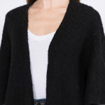 Wholesale oversized soft knit ruana fringes One fits most Polyester