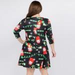Wholesale women s plus Christmas Ho Ho Ho Santa print Line dress pocket details