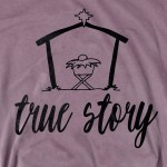 Wholesale storm Grey Bella Canvas short sleeve Bethlehem True Story Christmas pr