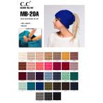 Wholesale mB Messy bun C C beanie acrylic Matches HAT G SF