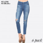 Wholesale women s Classic Distressed Skinny Jeggings jeggings styled resemble pa