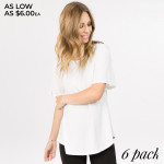 Wholesale show up next Summer party stylish staple short bell sleeves crew neck