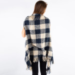 Wholesale soft touch buffalo check vest fringes One fits most Acrylic