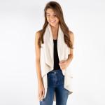 Wholesale knit vest cape detail acrylic