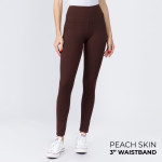 Wholesale mix Brand peach skin leggings seamless chic must have every wardrobe