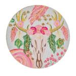 Wholesale accessorize phone grip wood decorative peel stick charm floral cow sku